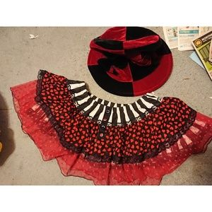Dresses & Skirts - Queen of hearts/Mad hatter costume pieces